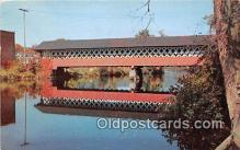 cou100920 - Covered Bridge Vintage Postcard
