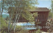 cou100921 - Covered Bridge Vintage Postcard