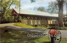 cou100922 - Covered Bridge Vintage Postcard