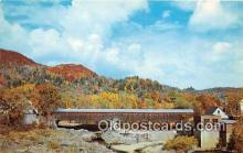 cou100923 - Covered Bridge Vintage Postcard