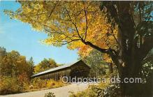 cou100924 - Covered Bridge Vintage Postcard
