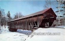 cou100925 - Covered Bridge Vintage Postcard