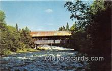 cou100930 - Covered Bridge Vintage Postcard