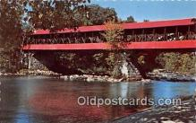 cou100931 - Covered Bridge Vintage Postcard