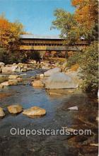 cou100932 - Covered Bridge Vintage Postcard