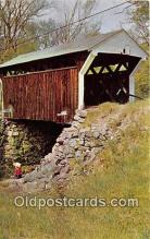 cou100934 - Covered Bridge Vintage Postcard