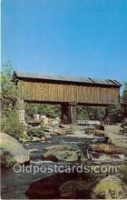 cou100939 - Covered Bridge Vintage Postcard