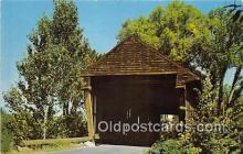 cou100940 - Covered Bridge Vintage Postcard