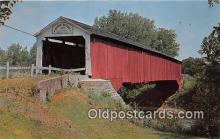 cou100941 - Covered Bridge Vintage Postcard