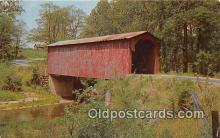 cou100943 - Covered Bridge Vintage Postcard