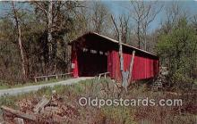 cou100944 - Covered Bridge Vintage Postcard