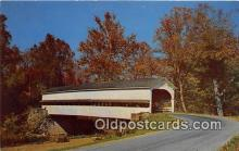 cou100945 - Covered Bridge Vintage Postcard