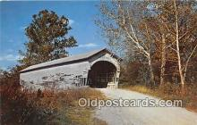 cou100946 - Covered Bridge Vintage Postcard