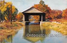 cou100947 - Covered Bridge Vintage Postcard