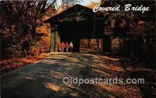 cou100952 - Covered Bridge Vintage Postcard