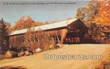 cou100953 - Covered Bridge Vintage Postcard