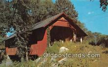 cou100954 - Covered Bridge Vintage Postcard