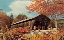 cou100955 - Covered Bridge Vintage Postcard