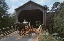 cou100956 - Covered Bridge Vintage Postcard