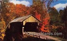 cou100957 - Covered Bridge Vintage Postcard