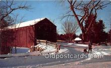 cou100958 - Covered Bridge Vintage Postcard