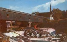 cou100960 - Covered Bridge Vintage Postcard