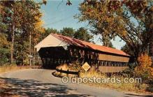 cou100961 - Covered Bridge Vintage Postcard