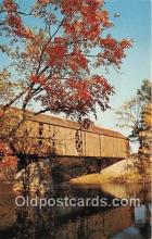 cou100962 - Covered Bridge Vintage Postcard