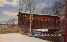 cou100964 - Covered Bridge Vintage Postcard