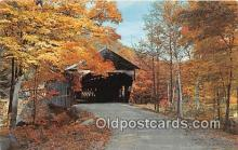 cou100965 - Covered Bridge Vintage Postcard
