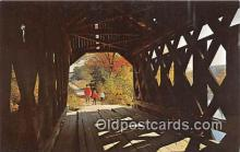 cou100966 - Covered Bridge Vintage Postcard