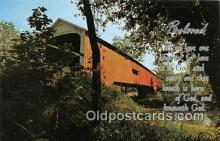 cou100969 - Covered Bridge Vintage Postcard