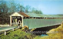 cou100970 - Covered Bridge Vintage Postcard