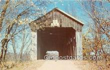 cou100972 - Covered Bridge Vintage Postcard