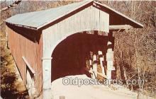 cou100973 - Covered Bridge Vintage Postcard