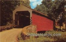 cou100975 - Covered Bridge Vintage Postcard