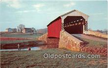 cou100976 - Covered Bridge Vintage Postcard