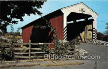 cou100979 - Covered Bridge Vintage Postcard