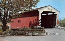 cou100980 - Covered Bridge Vintage Postcard