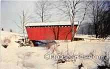 cou100981 - Covered Bridge Vintage Postcard
