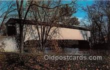 cou100982 - Covered Bridge Vintage Postcard