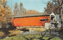 cou100983 - Covered Bridge Vintage Postcard