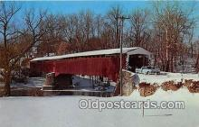 cou100984 - Covered Bridge Vintage Postcard