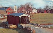 cou100985 - Covered Bridge Vintage Postcard