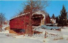 cou100986 - Covered Bridge Vintage Postcard