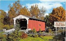 cou100989 - Covered Bridge Vintage Postcard