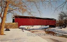 cou100992 - Covered Bridge Vintage Postcard