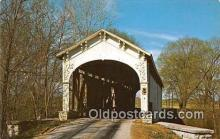 cou100997 - Covered Bridge Vintage Postcard