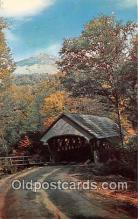 cou100998 - Covered Bridge Vintage Postcard