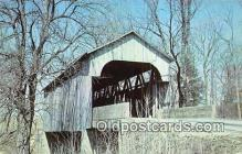cou101000 - Covered Bridge Vintage Postcard